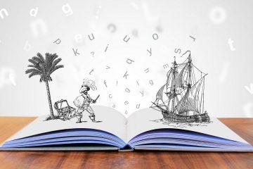 Afbeelding van een boek waaruit een verhaal tot leven komt, bedoelt ter illustratie.